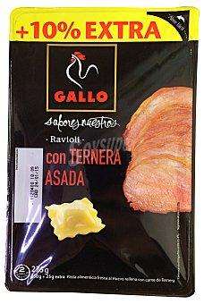 Gallo Pasta fresca raviolis con ternera del norte Paquete 275 g