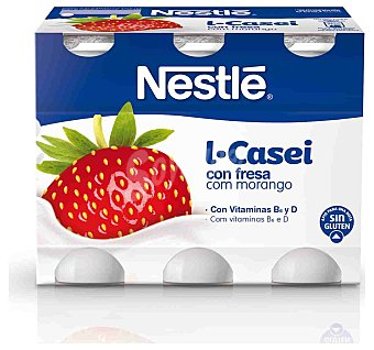 Nestlé Yogur Lcasei fresa 6 unidades de 100 g