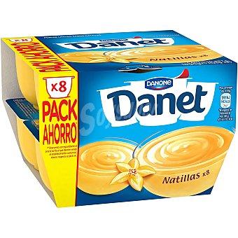 DANONE DANET Natillas de vainilla pack 8 unidades 125 g