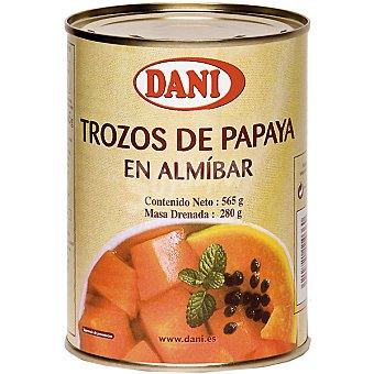 Dani Papaya troceada en almíbar Lata 280 g neto escurrido