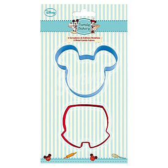 DISNEY Family Bakery Cortadores de galletas Mickey set 2 unidades 2 unidades