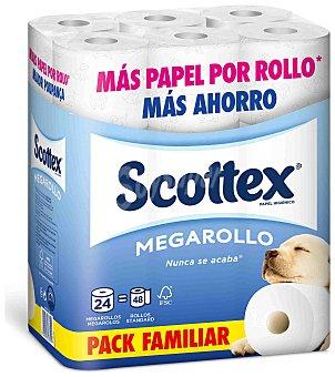 Scottex Papel higiénico Megarollo 24 rollos