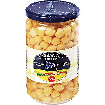 Hipercor Garbanzo cocido al natural Frasco 400 g neto escurrido