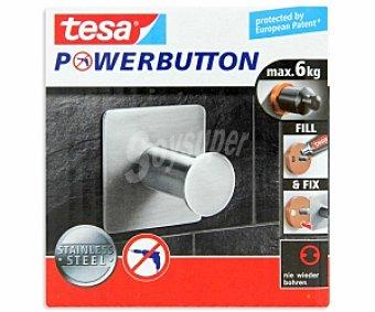 TESA Powerbutton Gancho Classic single cuadrado 1 Unidad