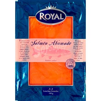 Pescados Royal Salmón ahumado Envase 100 g