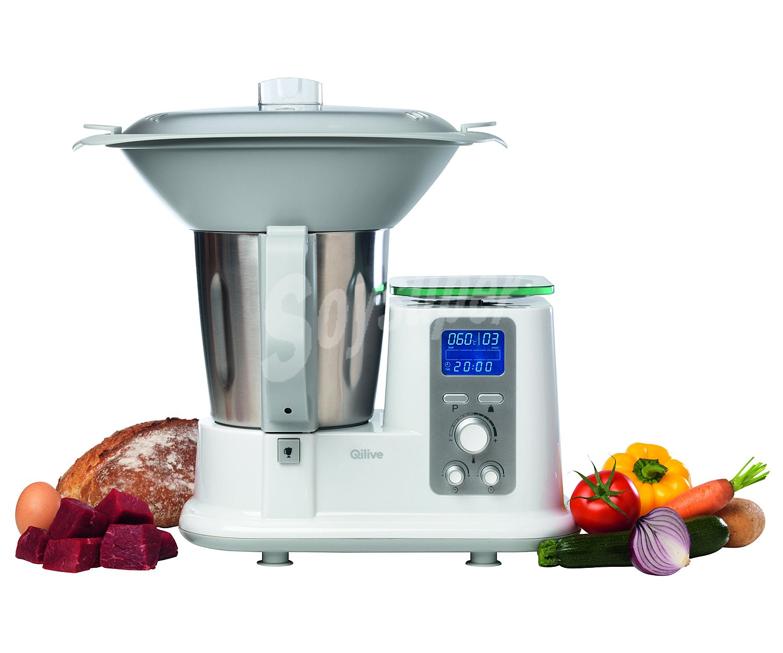 Qilive robot de cocina 1200w 10 velocidades pulse - Robot de cocina qilive ...