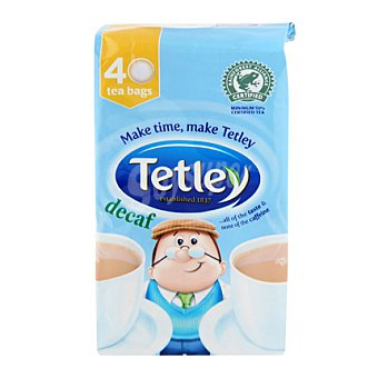 Tetley Té descafeinado Estuche de 40 bolsas