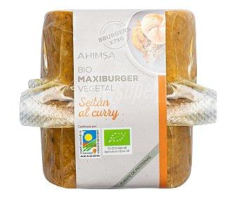 Ahimsa Preparado vegetal con seitán y curry tipo hamburguesa ecológicas Paquete 8 u x 75 g