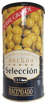 Hacendado Aceituna rellena anchoa seleccion Bote 600 g escurrido