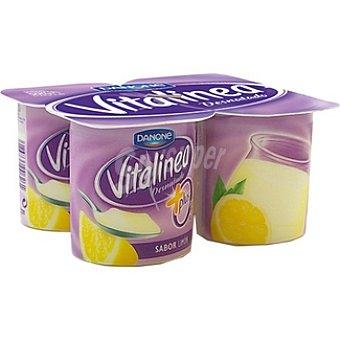 Vitalínea Danone Yogur desnatado 0% plus sabor limón Pack 4 envase 125 g