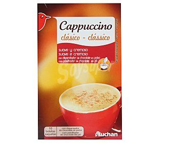 Auchan Café Capuccino Classique 10 Sobres (147 Gramos)