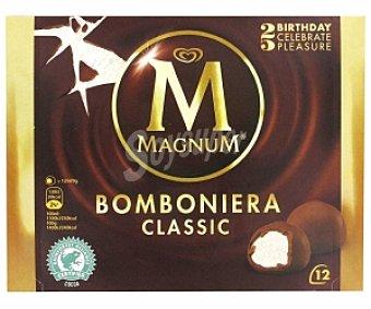 MAGNUM de FRIGO Bombón Helado (helado sabor nata recubierto de chocolate con leche) 12 Unidades (140 Mililitros)