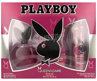 Playboy Fragrances Estuche de colonia , gel de ducha 250 mililitros y desodorante 150 mililitros 90 mililitros