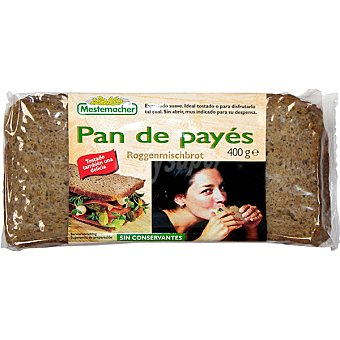 Mestemacher Pan de payes paquete 400 g Paquete 400 g