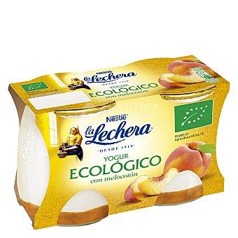 La Lechera Nestlé Yogur ecológico con melocotón pack 2x125 g