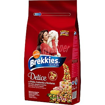 Brekkies Affinity EXCEL Delice Croquetas rellenas de jamón Paquete 1,5 kg