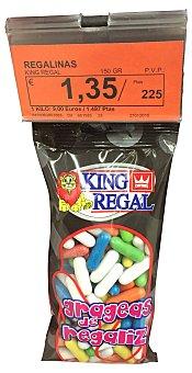 King Regal Caramelo regalinas colores (capsulas) Paquete de 150 g