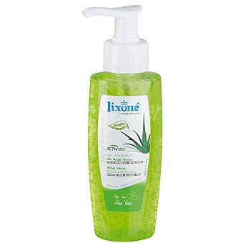 Lixone gel hidratante de Aloe Vera sin alcohol para piel sensible Dosificador 150 ml