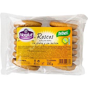 SANTIVERI NOGLUT Roscos sin gluten y sin lactosa Envase 235 g