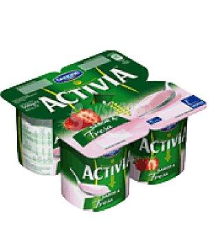 Danone Activia Activia sol sabor fresa Activia Pack 4 uds