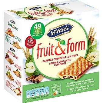 MCVITIE'S FRUIT&FORM Galletas con pasas y rellenas con manzana y canela Estuche 195 g