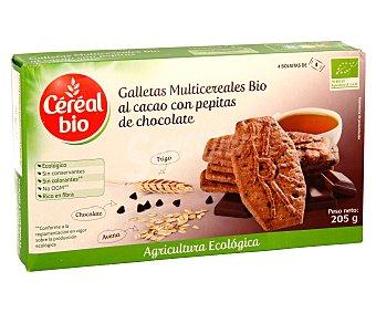 CEREAL BIO galletas multicereales al cacao con pepitas de chocolate ecológicas caja 205 g