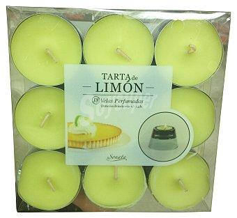 SONATA Vela perfumada pequeña aroma tarta de limón  Paquete de 18 uds
