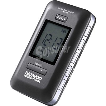 Daewoo Radio digital de bolsillo en color negro DRP-18