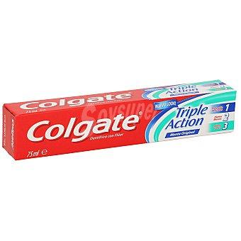 Colgate Dentífrico Triple Acción sabor a menta original Tubo de 75 ml