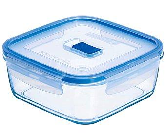 Luminarc Recipiente hermético rectángular de vidrio templado Pure Box Active, , 13cm. luminarc 0,76 litros