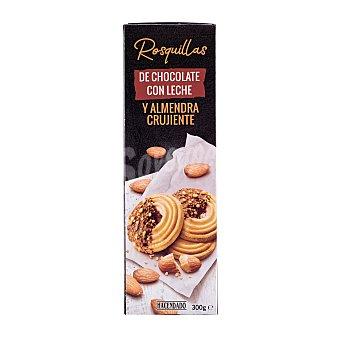 Hacendado Rosquillas de chocolate con leche y almendra crujiente  Caja 300 g