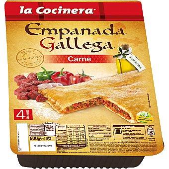 La Cocinera Empanada gallega de carne preparación en horno Estuche 500 g