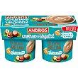 Especialidad vegetal de chocolate cremoso con leche de almendra pack 2 unidades 120 g pack 2 unidades 120 g Andros