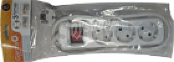 Base garza 3 tomas C/ interruptor 1.4 mts