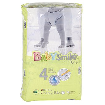 Baby Smile DIA pañales 8-15 kgs talla 4 paquete 64 uds