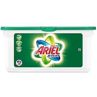Ariel Detergente máquina líqudo con actilift  EXCEL TABS Envase 28 capsulas