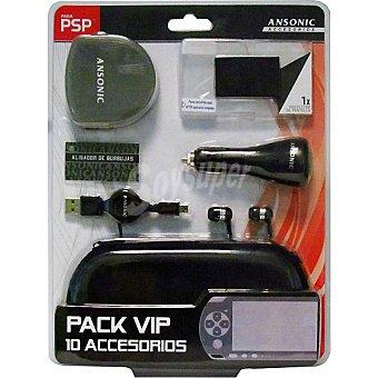ANSONIC Bolsa rígida + 8 accesorios para PSP