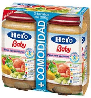Hero Baby Tarrito de pavo y verdura Pack de 2x250 g