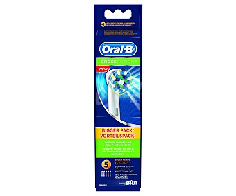 BRAUN - ORAL B EB50 Recambio Cross Action 5 unidades