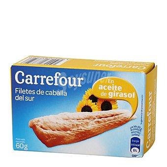 Carrefour Filetes de caballa del Norte en aceite vegetal 65 g