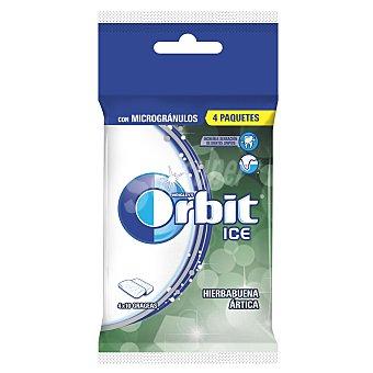 Orbit Chicles ICE de Hierbabuena Ártica grageas con microgránulos  4 paquetes de 10 grageas (60 g)