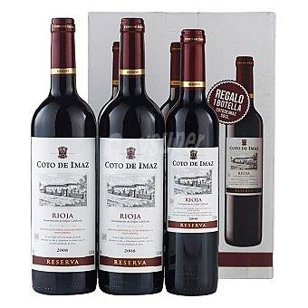 """Coto de Imaz Estuche de vino D.O. """"rioja"""" tinto reserva + regalo vino reserva 50 cl. Pack 2x75 cl"""