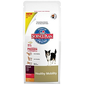 HILL'S SCIENCE PLAN ADULT MEDIUM Healthy Mobility Alimento especial con pollo para favorecer la movilidad para perro Bolsa 3 kg