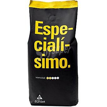 BURDET Especialísimo Café natural en grano 100% arábica Paquete 1 kg