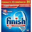 Detergente lavavajillas máquina todo en 1 limón classic 30 pastillas Finish