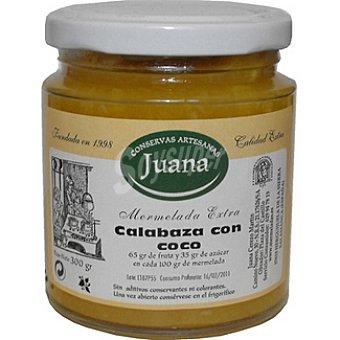 CONSERVAS ARTESANAS JUANA Mermelada extra de calabaza con coco Frasco 300 g