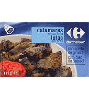 Carrefour Calamares en su tinta con aceite de girasol 111 g