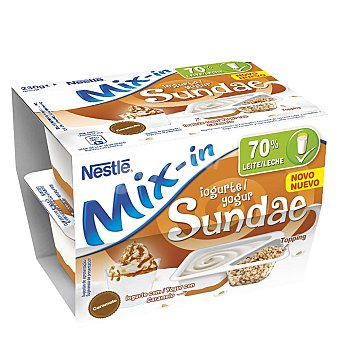 Nestlé Yogur Sundae Mix-in con caramelo pack 2x115 g