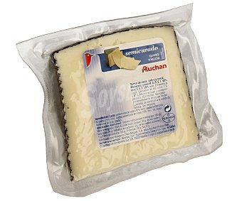 Auchan Queso semicurado de vaca, cabra y oveja 500 Gramos