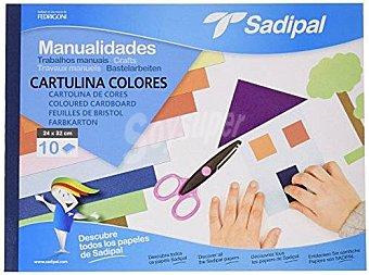 Sadipal 5980 - Bloc de manualidades con cartulina, 10 hojas